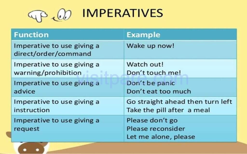 Fungsi dan Contoh Imperative Sentences Kalimat Perintah Dalam Bahasa Inggris