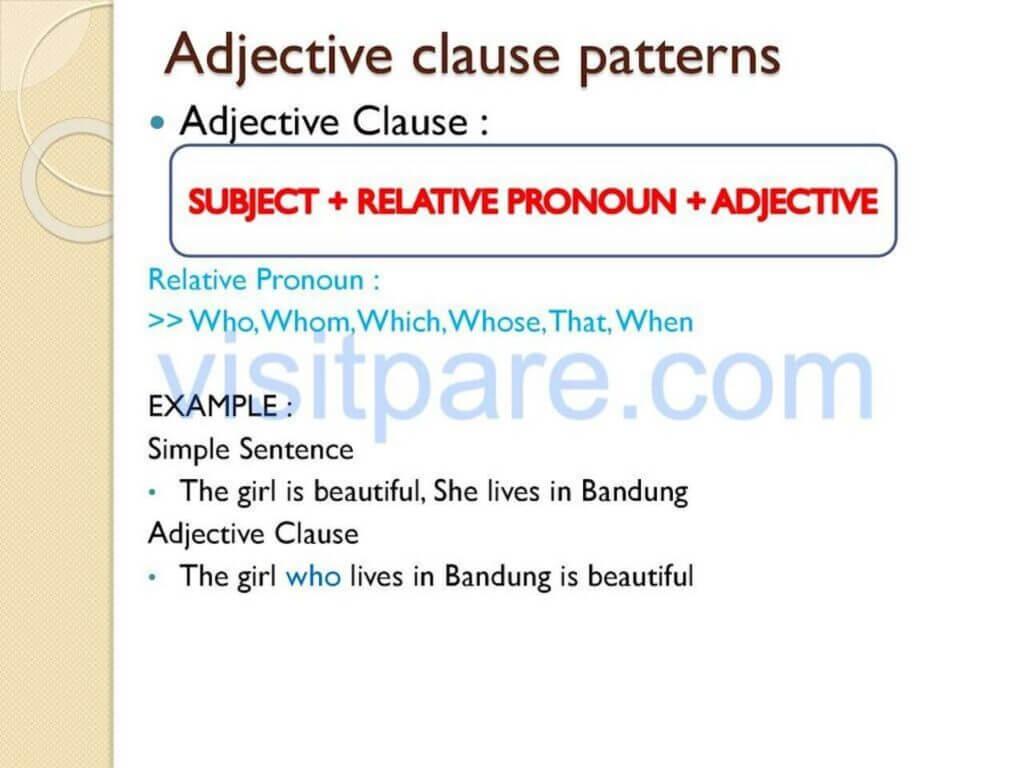 Jenis-jenis Adjective